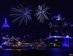 Firework Hamburg Blue Port 2015